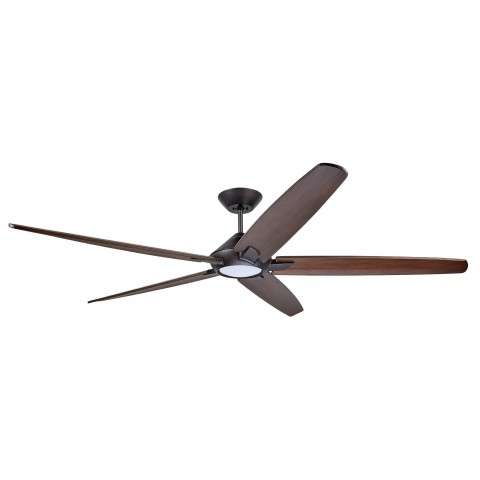 Emerson CF515CO72ORB 72 Inch Dorian Eco Ceiling Fan in Oil Rubbed Bronze with Curved Solid Wood Coffee Finished Blades