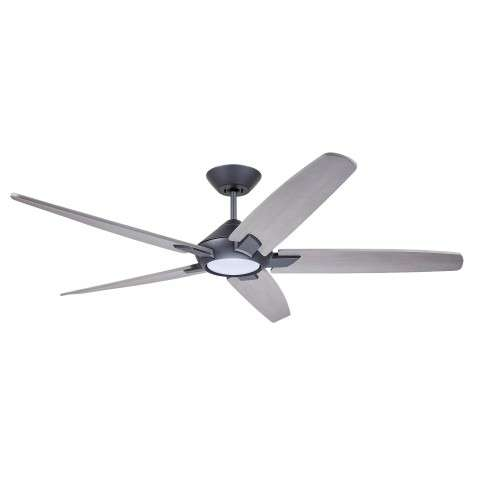 Emerson CF515TM60GRT 60 Inch Dorian Eco Ceiling Fan in Graphite with Curved Solid Wood Timber Gray Finished Blades