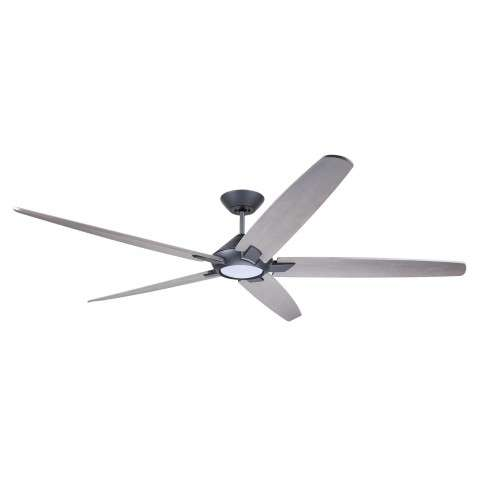 Emerson CF515TM72GRT 72 Inch Dorian Eco Ceiling Fan in Graphite with Curved Solid Wood Timber Gray Finished Blades