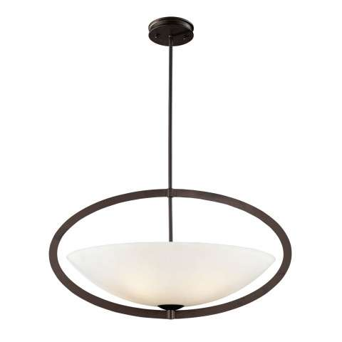 Elk Lighting 10227/5 5- Light Pendant In Aged Bronze