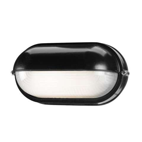 Access Lighting 20291-BL/FST Nauticus Wet Location Bulkhead in Black finish with Frosted glass