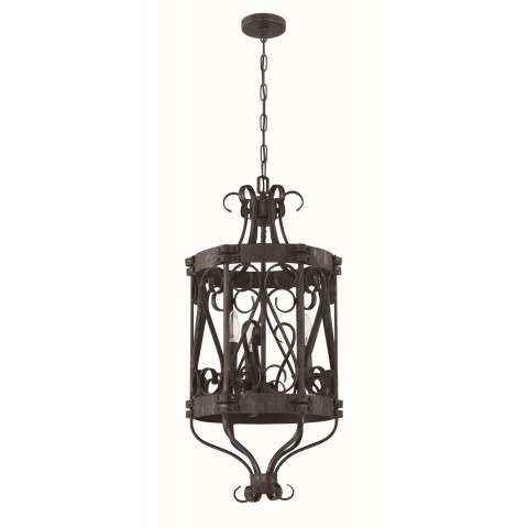 Ellsworth 3 Light Foyer in Charcoal