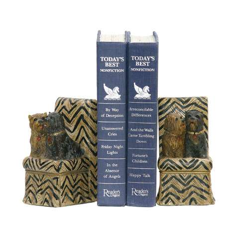 Sterling Furnishings 91-2271 Pair Millionaire Pet Bookends