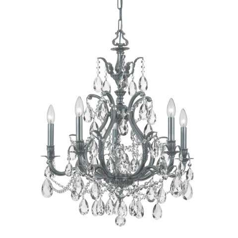 Crystorama 5575-PW-CL-MWP Clear Hand Cut Crystal Chandelier