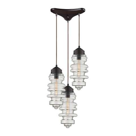 Cipher 3 Light Pendant In Oil Rubbed Bronze