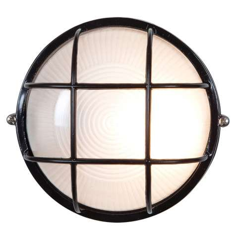 Access Lighting 20294-BL/FST Nauticus Wet Location Bulkhead in Black finish with Frosted glass