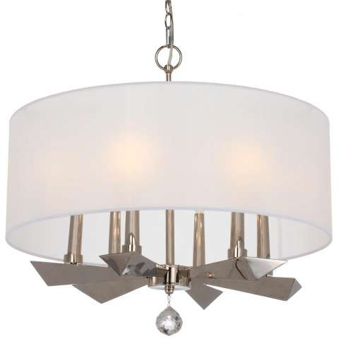 Palmer 6 Light Polished Nickel Chandlier