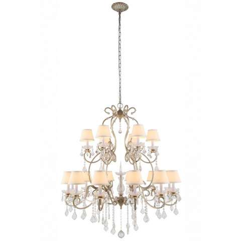 "Urban Classic - 1471 Diana Collection Chandelier D:39"" H:47"" Lt:18 Vintage Silver Leaf Finish"