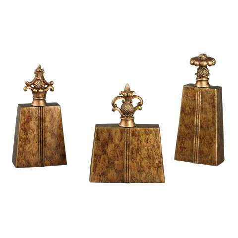 Finial - Set Of 3 Chestnut Finials - Composite