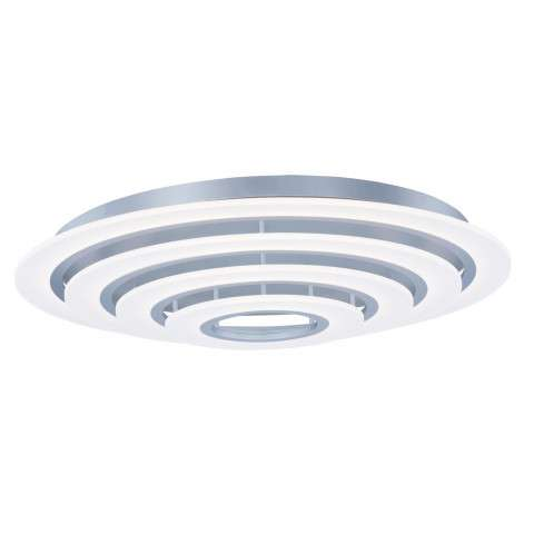 Saturn II LED 4-Light Flush Mount in Matte Silver