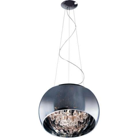 ET2 Contemporary Lighting E21206-10PC Sense 6-light Single Pendant in Polished Chrome finish with Mirror Chrome glass