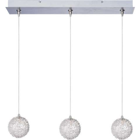 ET2 Contemporary Lighting E94872-78 Starburst 3-light Linear Pendant with Mesh glass