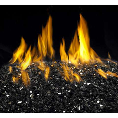 Black Reflective Fireplace Glass Crystals - 7.5lb bag