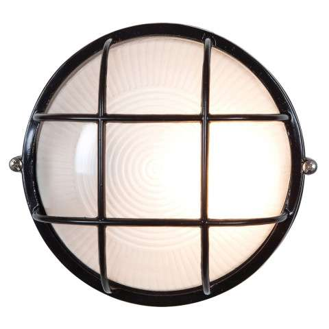 Access Lighting 20296-BL/FST Nauticus Wet Location Bulkhead in Black finish with Frosted glass