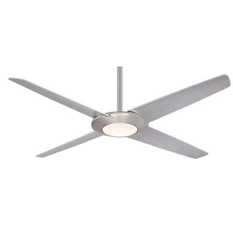 "Minka Aire F739L-BN Pancake XL LED 52"" Ceiling Fan in Brushed Nickel"