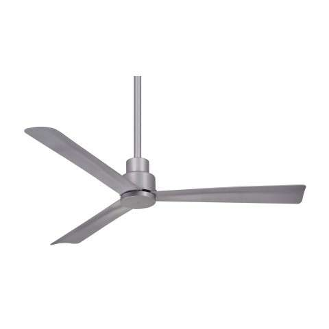 "Simple 44"" LED Ceiling Fan In Brushed Nickel Wet"