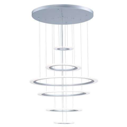 Saturn II LED 6-Light Pendant in Matte Silver