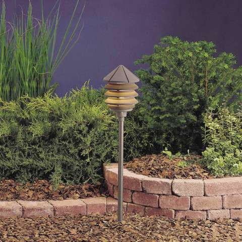 Kichler 15205AZT Path & Spread 1-Lt 120V in Textured Architectural Bronze.
