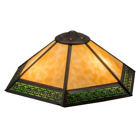 "19"" W Greek Key Mission Shade - Custom Crafted In Yorkville - New York Please Allow 30 Days"