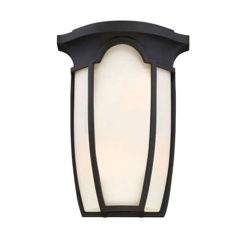 Tudor Row Wall Sconce in Black