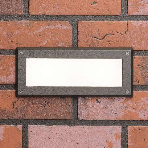Utilitarian Landscape - Deck LED 2W Brick light Lndscp in Textured Architectural Bronze