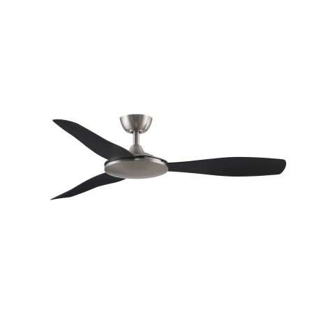 Fanimation FPD8520BNBL GlideAire 52 Inch Ceiling Fan in Brushed Nickel with Black Blades