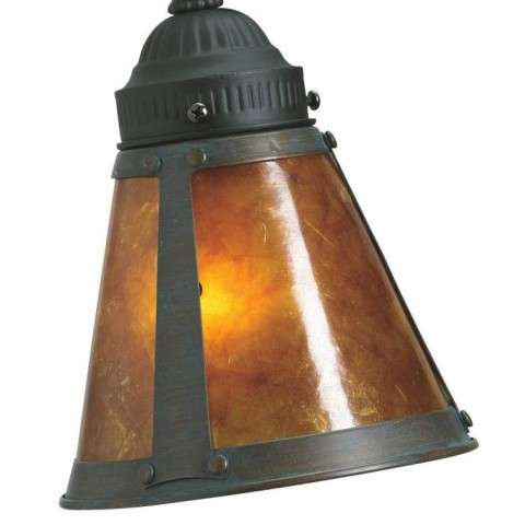 Ceiling fan glass shade model G244 2 1/4 inch Mission Style Bronze with Amber from Fanimation.