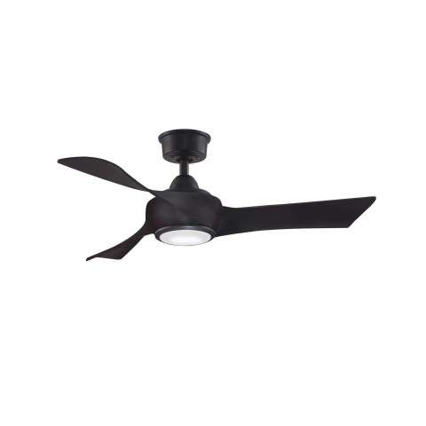 Fanimation MAD8530DZ Custom Wrap 44 Inch Ceiling Fan in Dark Bronze. Shown with BPW8530-44DWA 44 Inch Dark Walnut Colored Blades and LK8530DZ LED Light Kit.