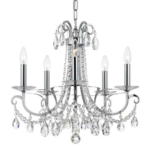 Crystorama Othello 5 Light Clear Crystal Polished Chrome Chandelier