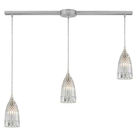 Kersey 3 Light Pendant In Satin Nickel