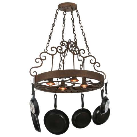 "34"" W Dior 4 Lt Pot Rack. Custom Crafted In Yorkville - New York Please Allow 30 Days"