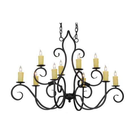 "48"" L Clifton 10 Lt Chandelier. Custom Crafted In Yorkville - New York Please Allow 30 Days"