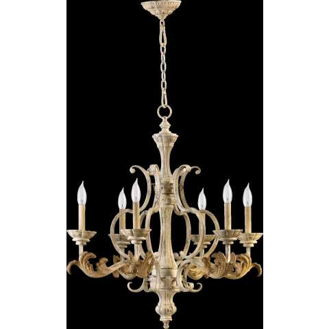 Florence 6 Light Chandelier in Persian White