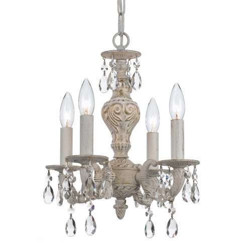 Crystorama 5024-AW-CL-MWP Clear Hand Cut Crystal Chandelier