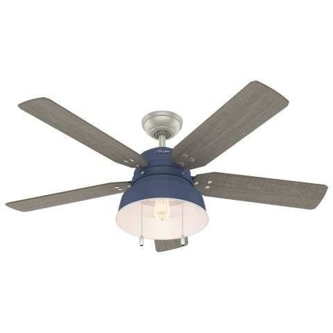 50252 Hunter Mill Valley Indigo Blue Ceiling Fan