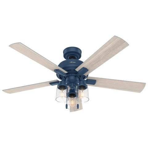 Hunter 50310 44 Inch Hartland Indigo Blue Ceiling Fan