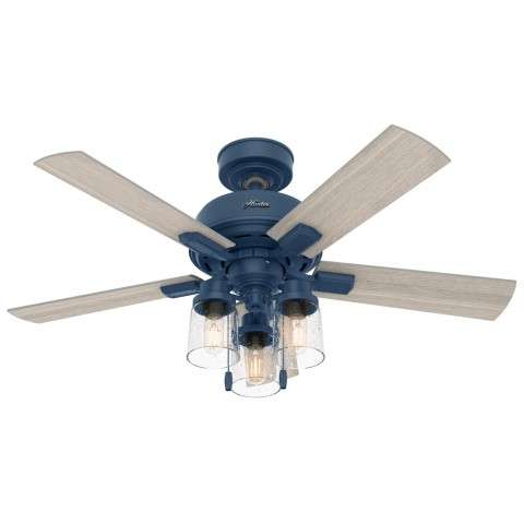 Hunter 50328 44 Inch Hartland Indigo Blue Ceiling Fan