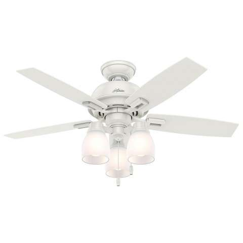 "Donegan Collection - 44"" Fresh White Three Light Light Kit"