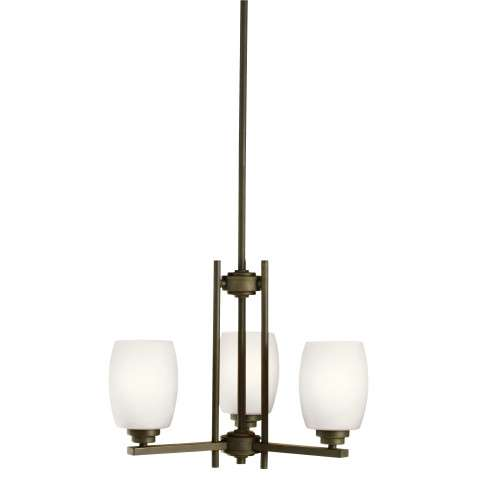 Eileen Mini Chandelier 3 Light in Olde Bronze