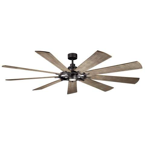 Kichler 85 Inch Gentry  XL LED Ceiling Fan Model 300285AVI - Distressed Antique Gray Blades