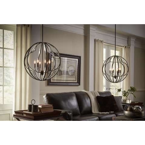 Montavello Chandelier 6 Light in Olde Bronze