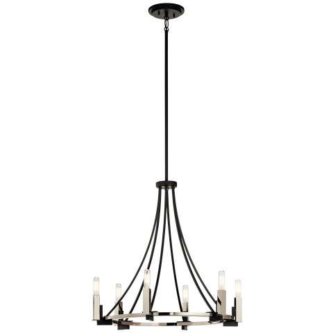 Bensimone Chandelier 6 Light in Black