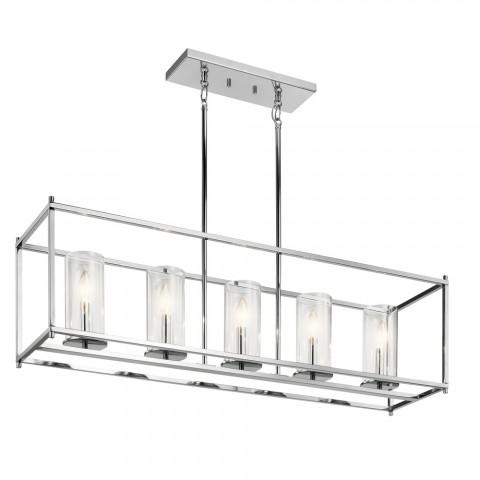 Crosby Transitional Linear Chandelier 5Lt In Chrome