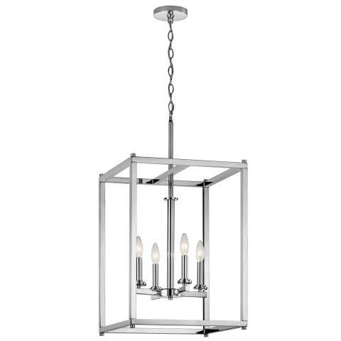 Crosby Foyer Pendant 4 Light in Chrome