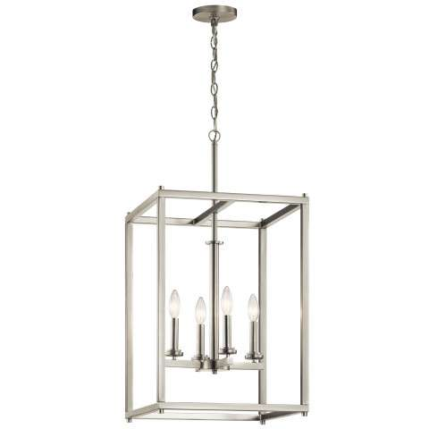 Crosby Foyer Pendant 4 Light in Brushed Nickel