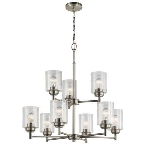 Winslow Transitional Chandelier 9Lt In Brushed Nickel