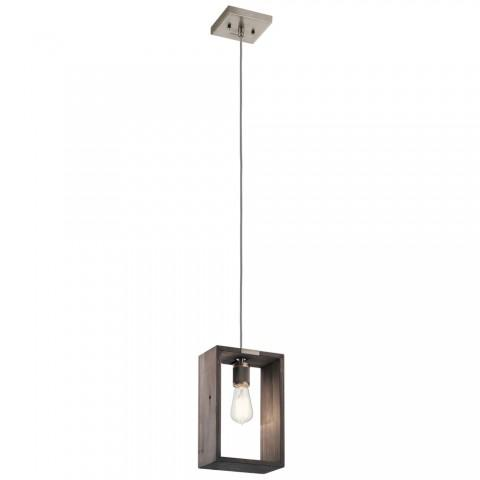 Industrial Frames Lodge/Country/Rustic Pendant 1Lt In Classic Pewter