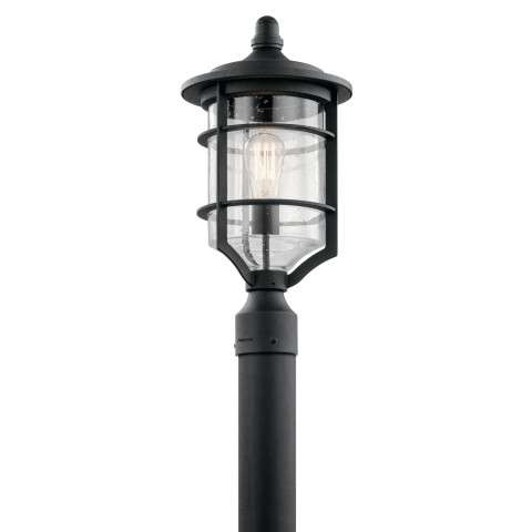 Royal Marine Outdoor Post Mt. 1 Light in Distressed Black