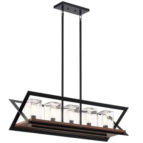 Kichler 49309BK - Morelle Outdoor Chandelier 5 Light - Black