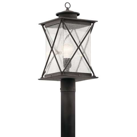 Argyle Outdoor Post Mt. 1 Light in Weathered Zinc